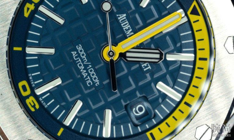 一个摄影爱好者的入手爱彼皇家橡树离岸型系列潜水腕表15710ST作业!(高清微距图)!