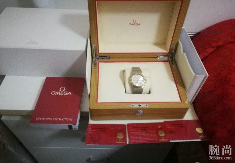 欧米茄星座系列带钻手表,迟到的作业!