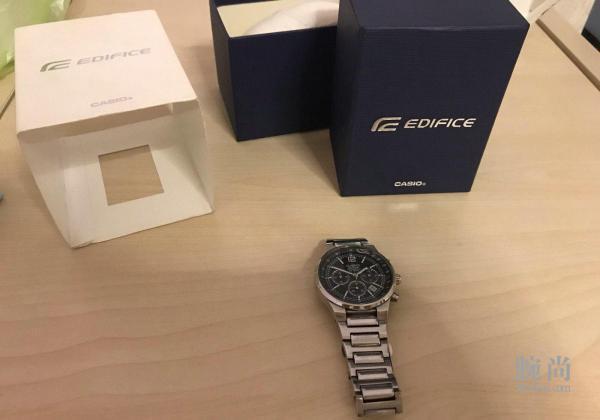 以此帖纪念我的第一块手表卡西欧ef-500d-1a!