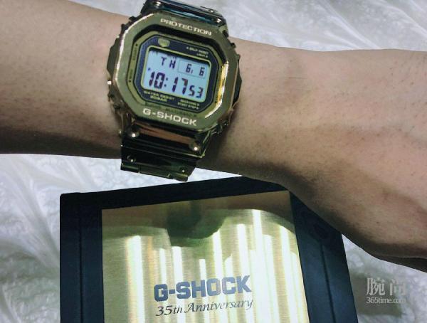 对比之后入手35周年限定金色正显GMW-B5000TFG-9!