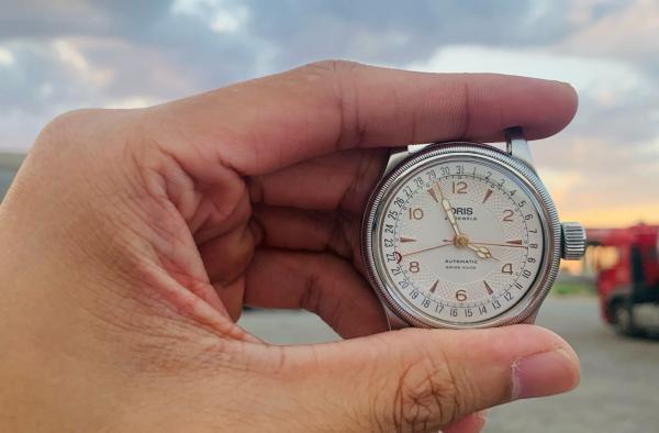 我的第一块机械表,豪利时老款白面大表冠!