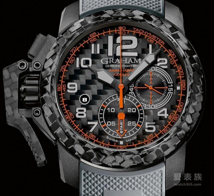 格林汉姆Chronofighter系列超轻碳材质腕表