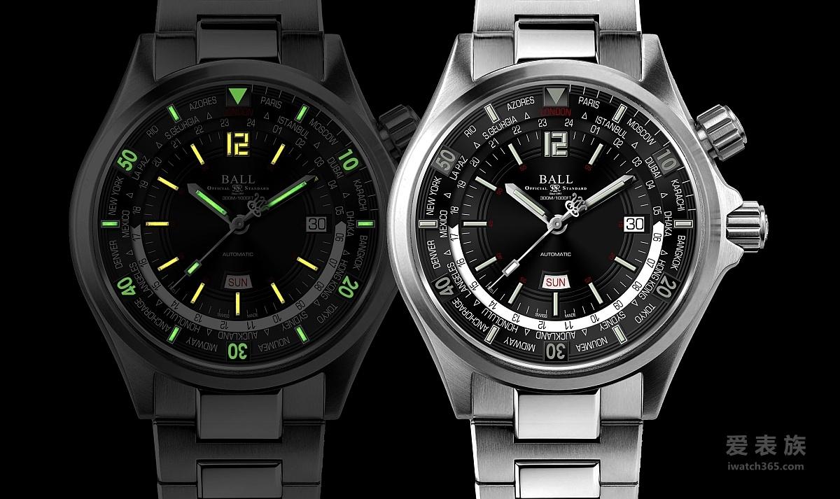 世上首枚配备星期/日期显示的世界时间潜水时计:BALL Watch —波尔表