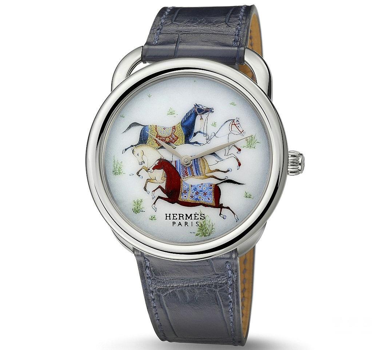 爱马仕 Hermès Arceau Cheval d'Orient大明火珐琅腕表