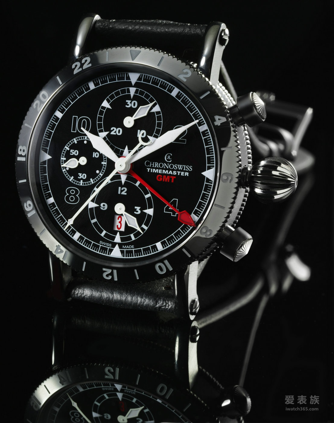 瑞宝Chronoswiss Timemaster GMT第二时区计时腕表