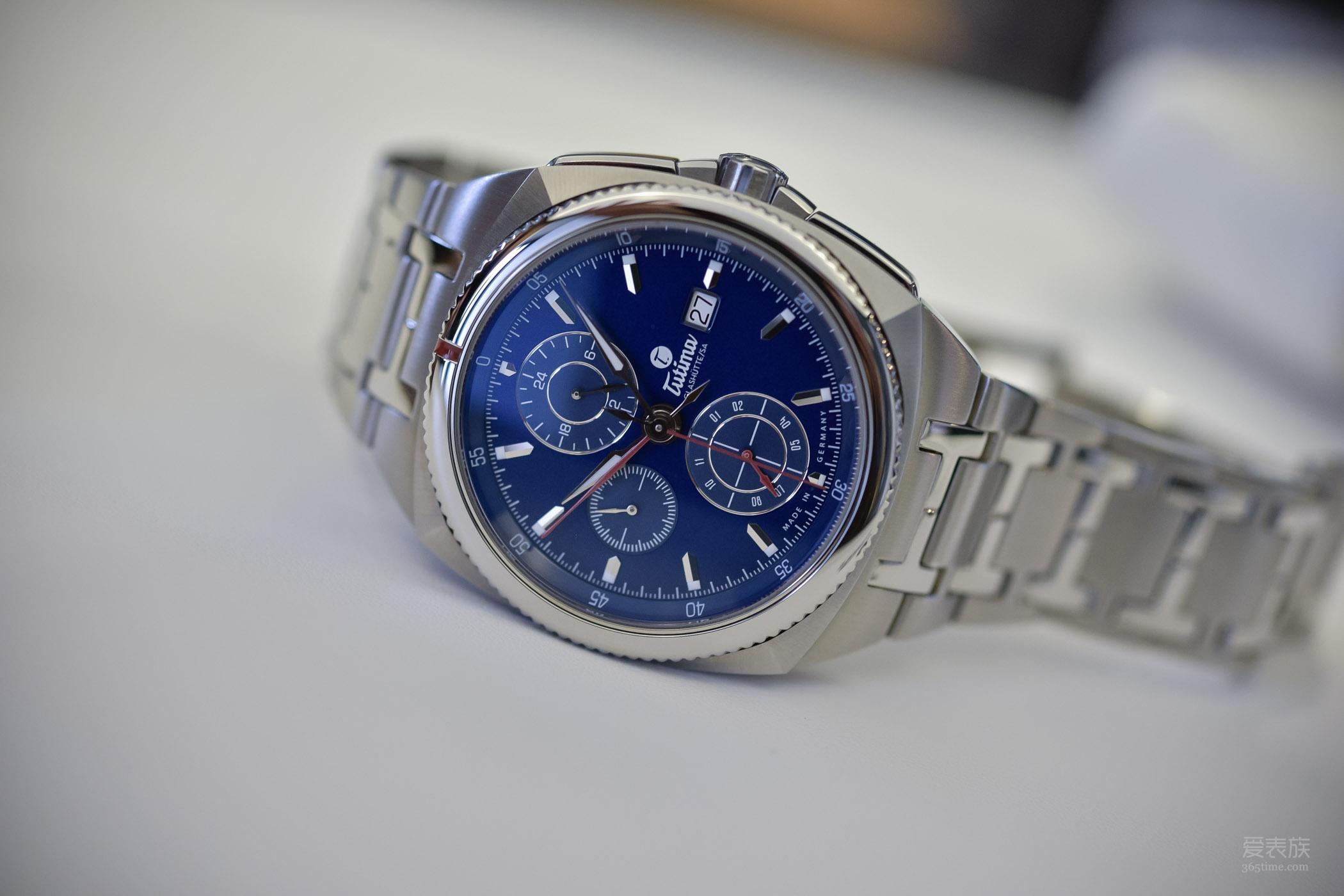 德式运动范儿——Tutima帝玛Saxon One蓝盘计时腕表