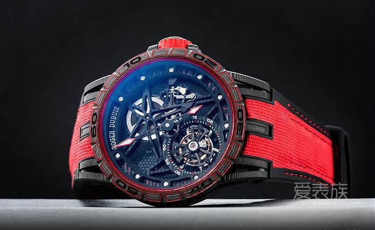 材料为王---迈入碳纤维时代罗杰杜彼Excalibur Spider Carbon腕表