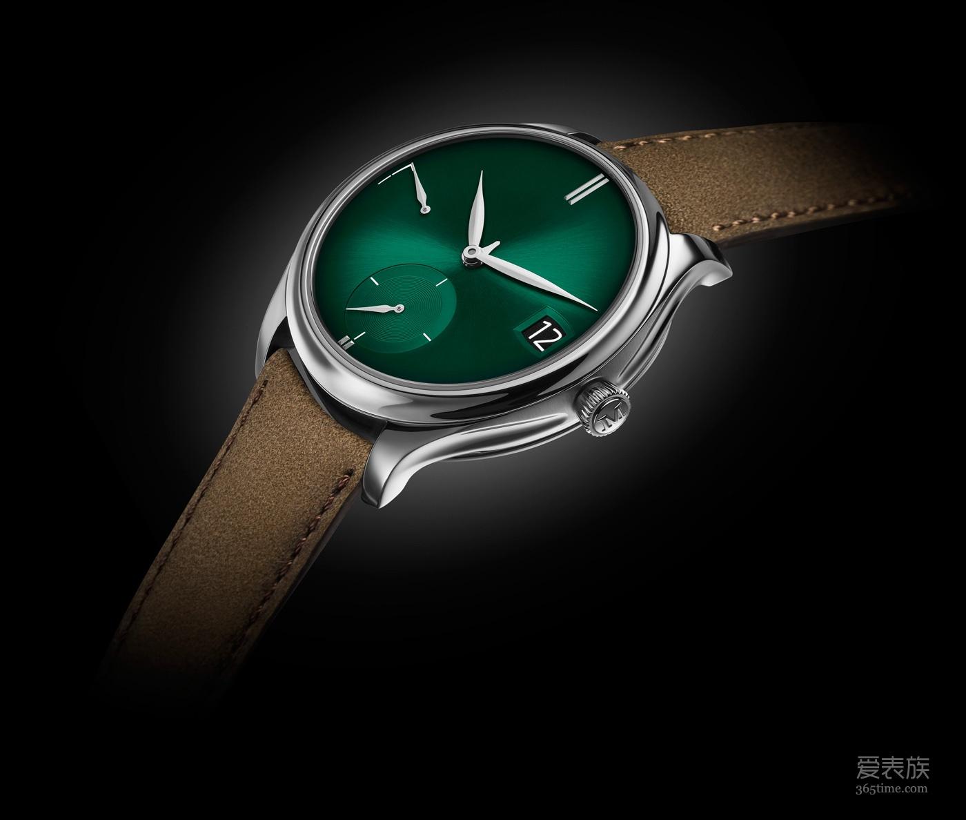 简洁、惊艳、低调、纯正:H. MOSER & CIE. 亨利慕时勇创者万年历PURITY宇宙绿腕表