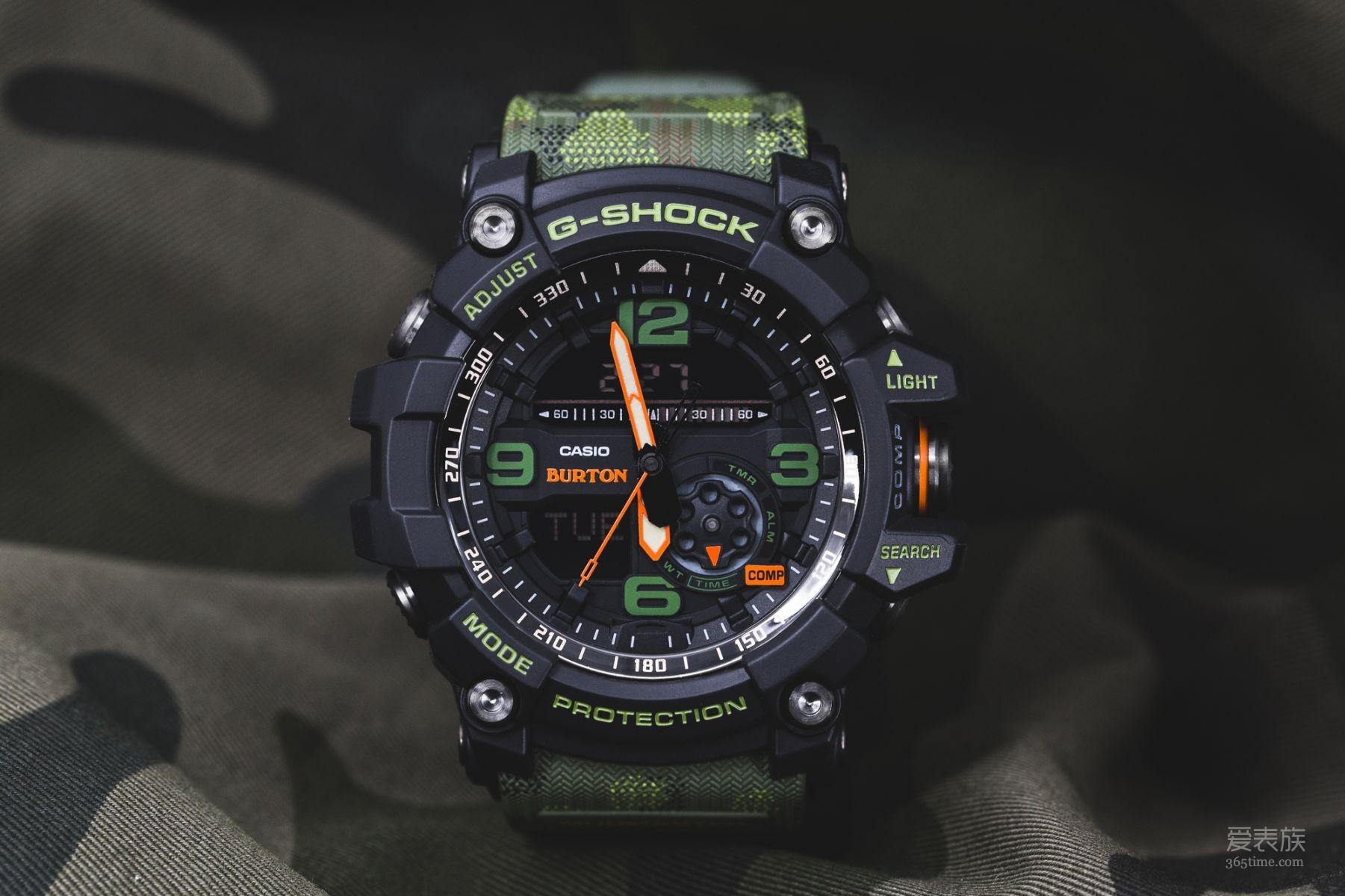 G-SHOCK三度携手美国知名雪板创始品牌BURTON,推出极地机能联名表款GG-1000BTN