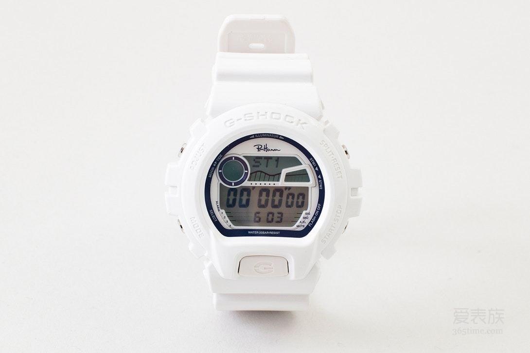 Ron Herman x G-SHOCK GLX-6900 联名别注腕表,洁净无菌白