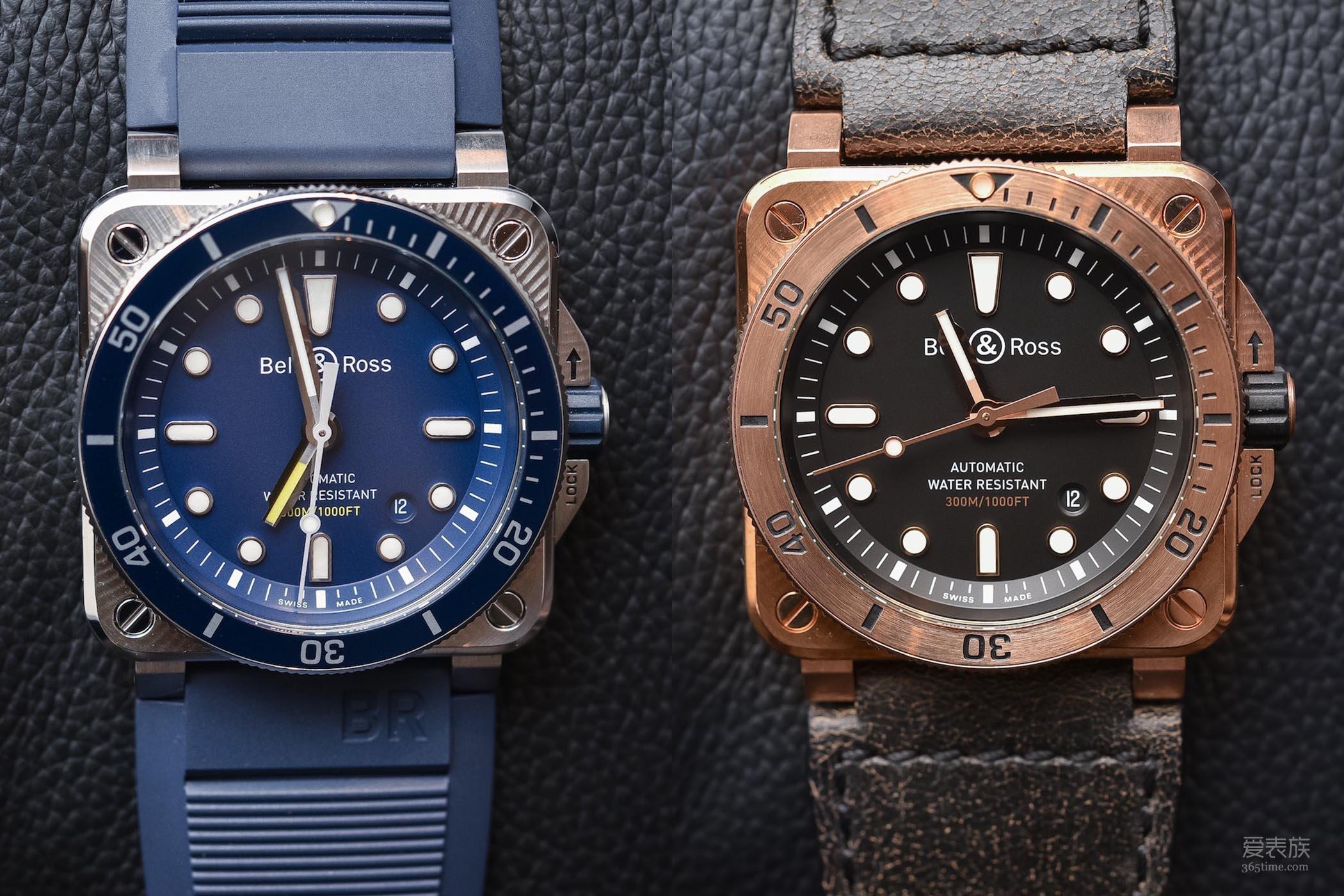可靠的小众潜水表——柏莱士BR03-92 Diver系列蓝盘&青铜腕表