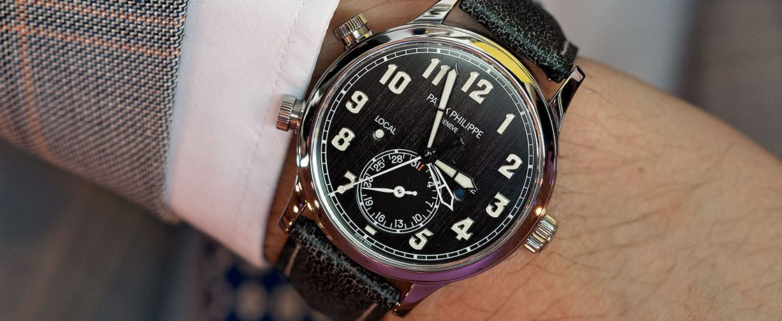 Patek Philippe 推出 Children Action 慈善拍卖 Calatrava Pilot Travel Time Ref. 5524T-010 钛壳腕表