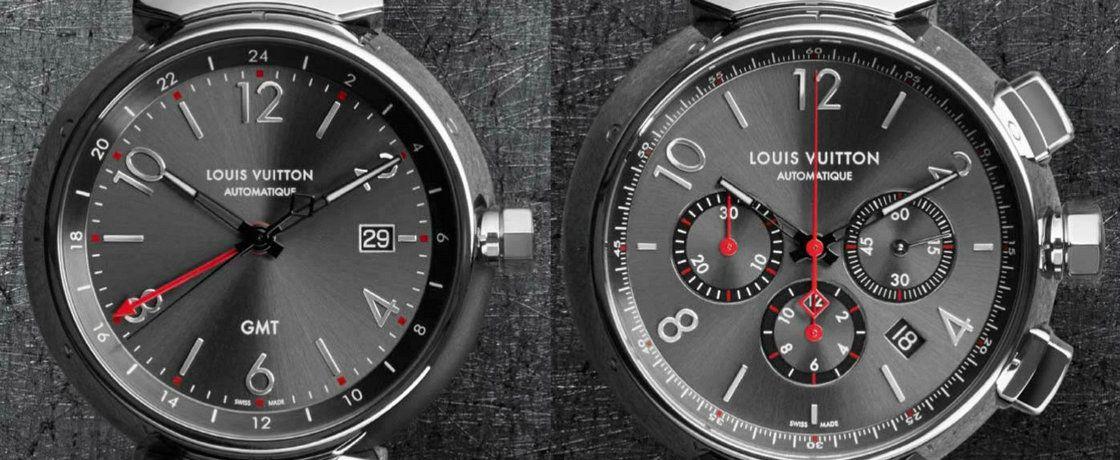 路易威登Tambour Essential Grey 系列:GMT 与计时腕表经典之作
