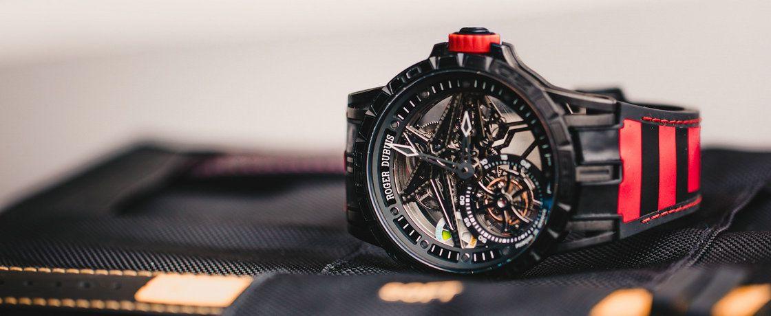 大拿与大拿之间的碰撞 = 罗杰杜彼Excalibure Spider Pirelli单飞行陀飞轮腕表