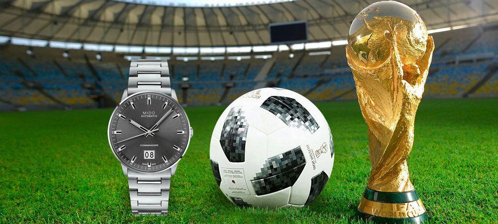 见证世界杯的热血时分:MIDO Commander Big Date指挥官系列大日期窗腕表