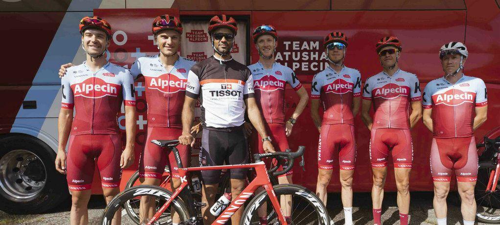 天梭表携全球品牌形象代言人托尼·帕克助阵环法自行车赛