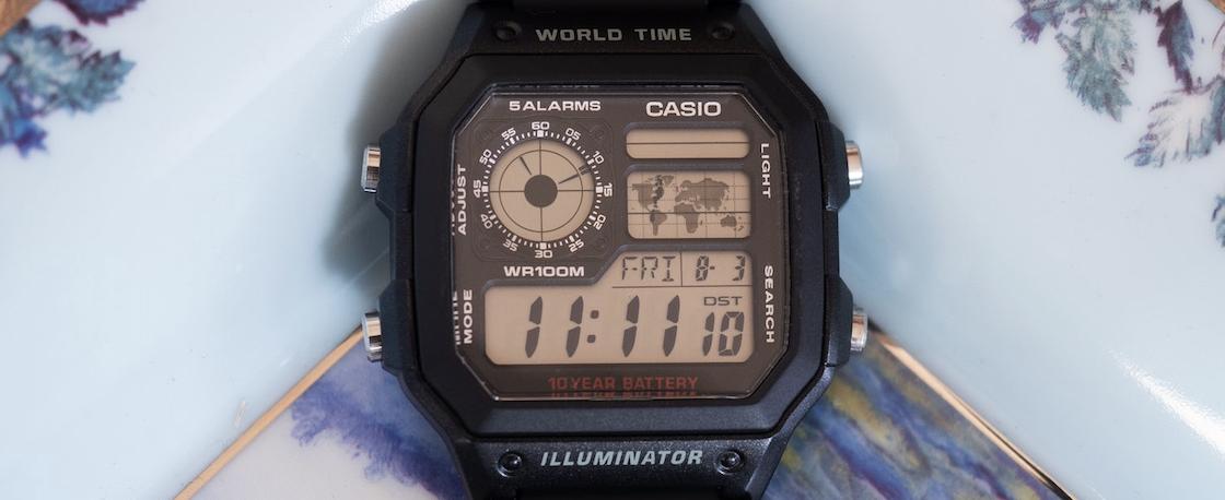 平均一个时区还不到20块钱的经典腕表-怀念卡西欧AE1200WH-1A世界时间
