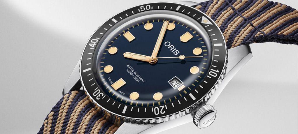 豪利时回收环保材质制作表带的新款Divers Sixty-Five潜水表