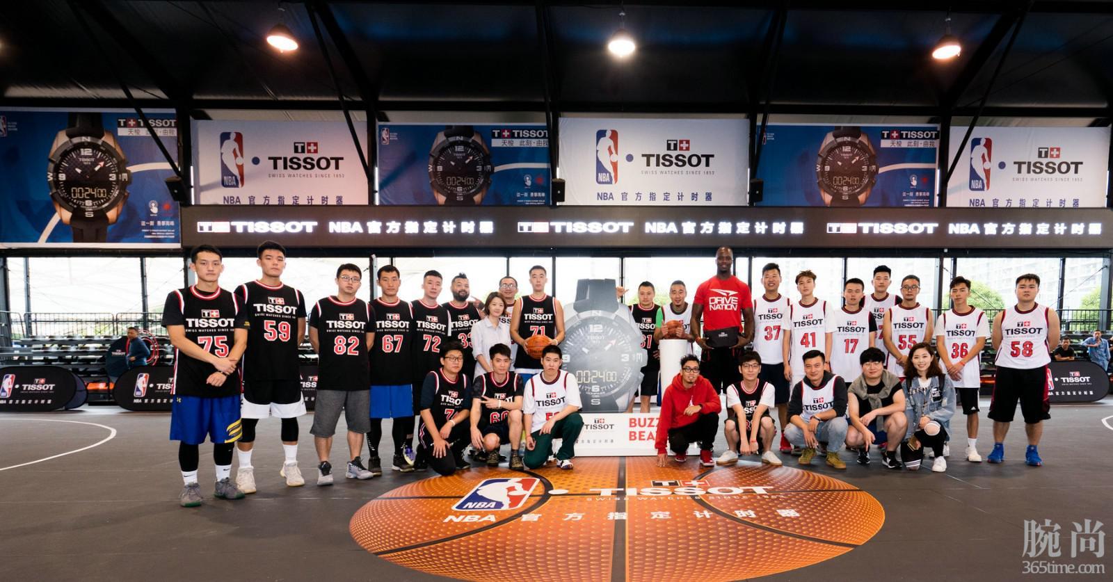 图5:NBA名宿杰梅因·奥尼尔受天梭表邀请执教篮球训练营.jpg
