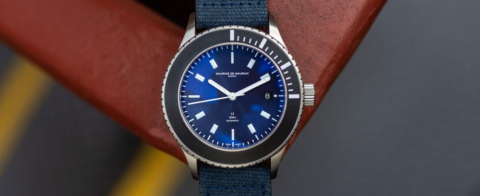 3万块钱以内潜水表的新势力-Maurice De Mauriac L2深蓝色潜水表
