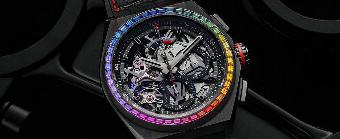 彩虹环绕的百分之一秒——真力时Defy El Primero 21 Rainbow腕表