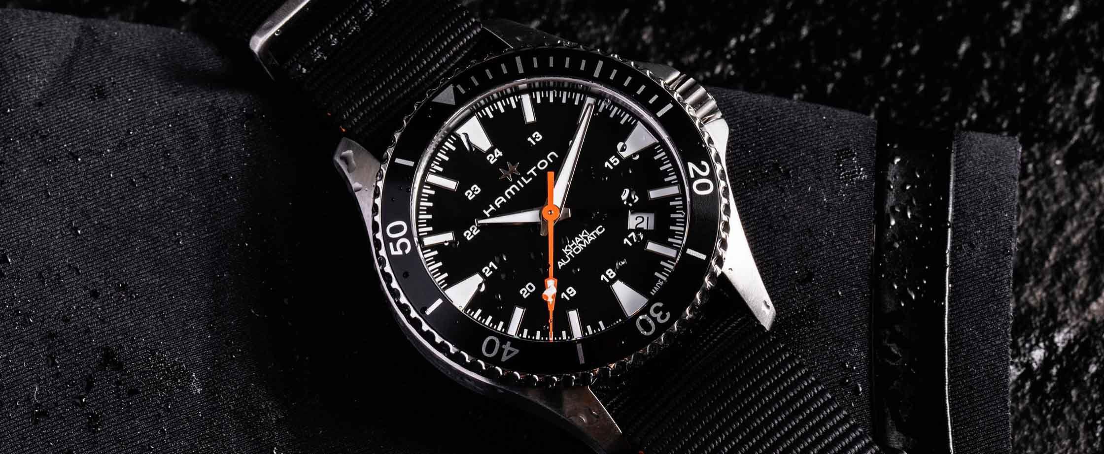 汉密尔顿卡其海军潜水Gear Patrol特别版腕表H82335031