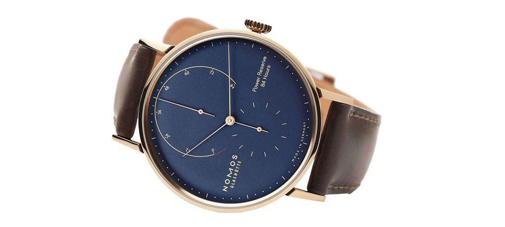 Nomos 推出 Timeless Lambda 特别版蓝色表盘腕表