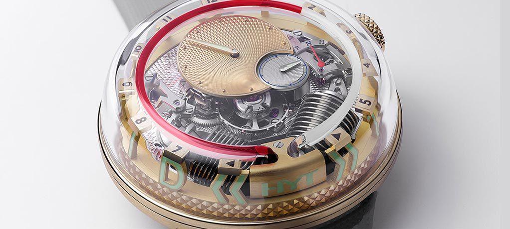 【Pre SIHH 2019】HYT 推出 H²0 »TIME IS FLUID« 液态时标腕表
