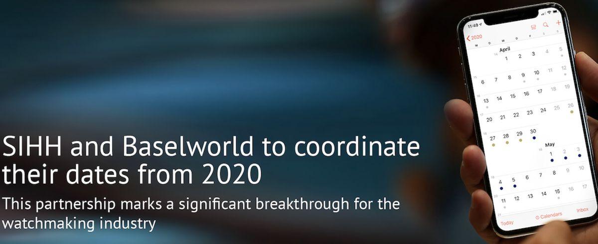 日内瓦的国际高级钟表沙龙(SIHH)和巴塞尔世界钟表展展开合作 2020年的两大表展将会同一时间举行