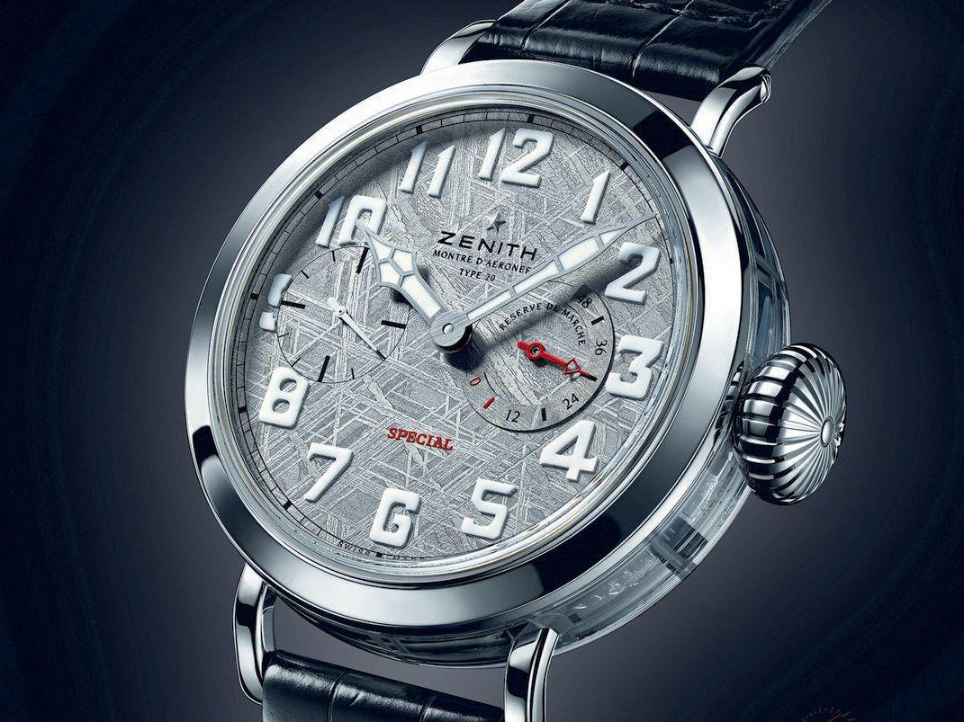真力时飞行员系列Type 20路易 • 布莱里奥纪念陨石盘面腕表——来自星星的礼物