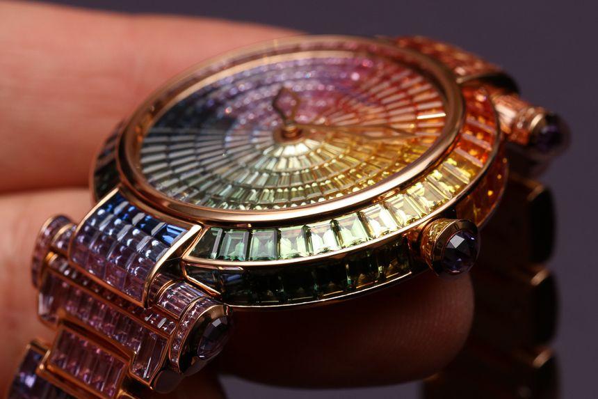 萧邦Imperiale系列彩虹女士珠宝腕表384340-5003——腕上的七彩祥云