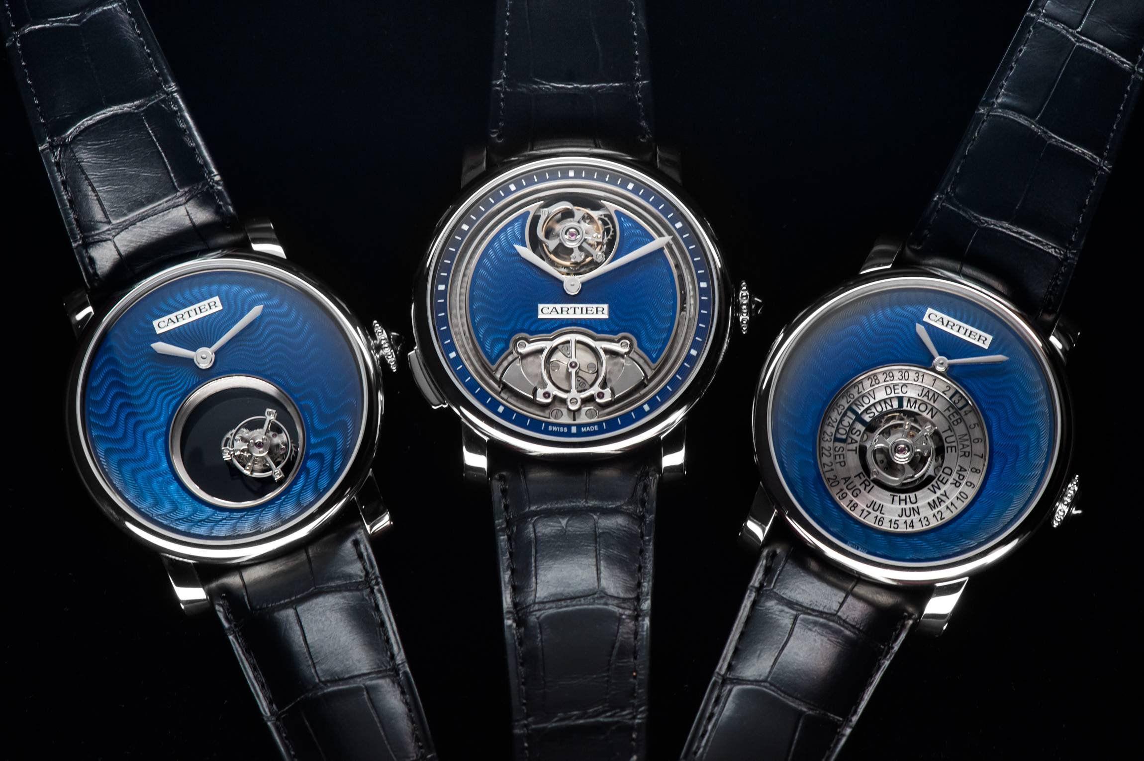卡地亚Rotonde系列高级复杂蓝色珐琅腕表套装——蓝色的奇迹