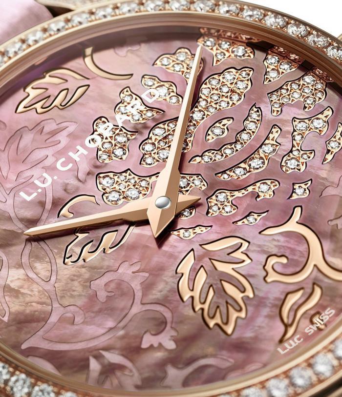 萧邦L.U.C系列131944-5001牡丹雕纹玫瑰金女表——惟有牡丹真国色!