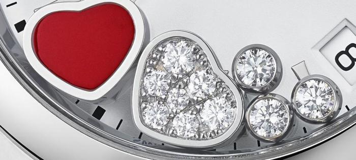 萧邦推出情人节特别版 Happy Hearts 女士腕表:跃动的红心