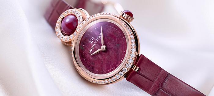 庆祝情人节:雅克德罗(JAQUET DROZ)以精雕细琢的红宝石之心 点缀优雅8女士小码腕表(LADY 8 PETITE),演绎似火热情