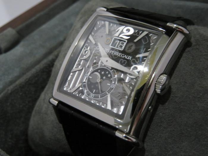 芝柏Vintage 1945大日历月相透明盘腕表——完美的透视!