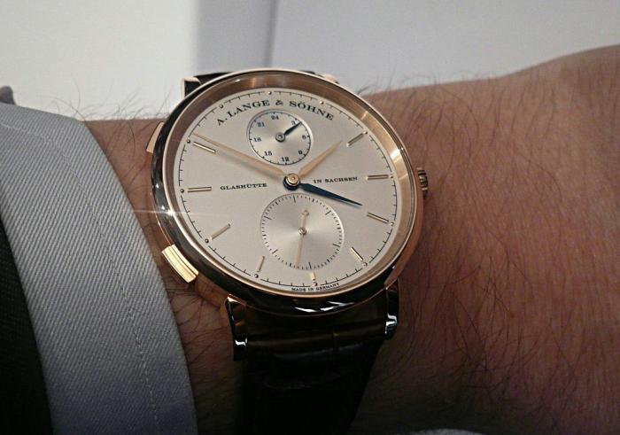 朗格Saxonia系列 Dual Time两地时腕表——简洁实用的商务之选!