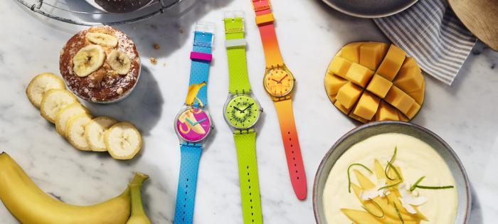 淋漓尽致的趣味设计:斯沃琪 2019 春夏系列腕表震撼登场