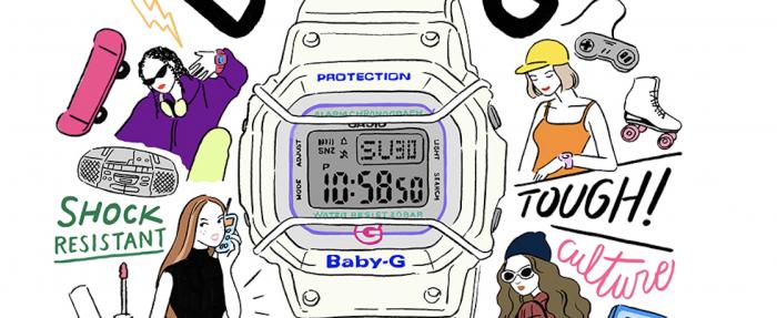 卡西欧(CASIO) BABY-G 25周年纪念版复刻手表GD-525-7D