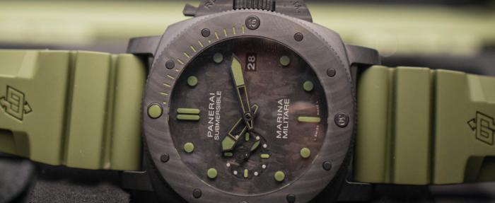 【SIHH 2019】军表风浓烈的潜水表PAM00961,聚焦2019SIHH沛纳海新款Carbotech材质腕表