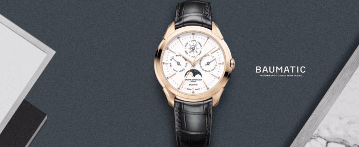 独家点评2019SIHH上的名士(Baume&Mercier)克里顿Baumatic腕表