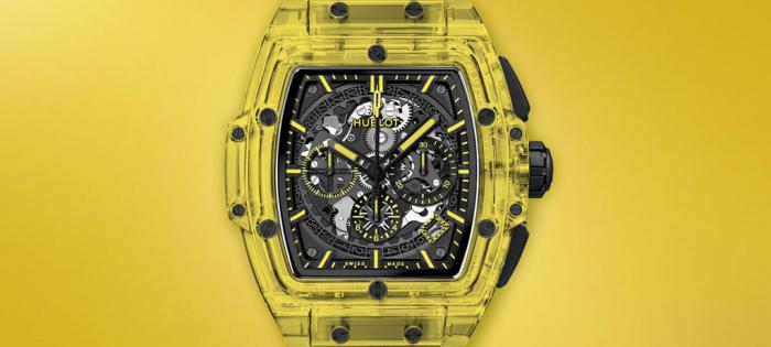 HUBLOT宇舶Spirit of Big Bang黄色蓝宝石腕表