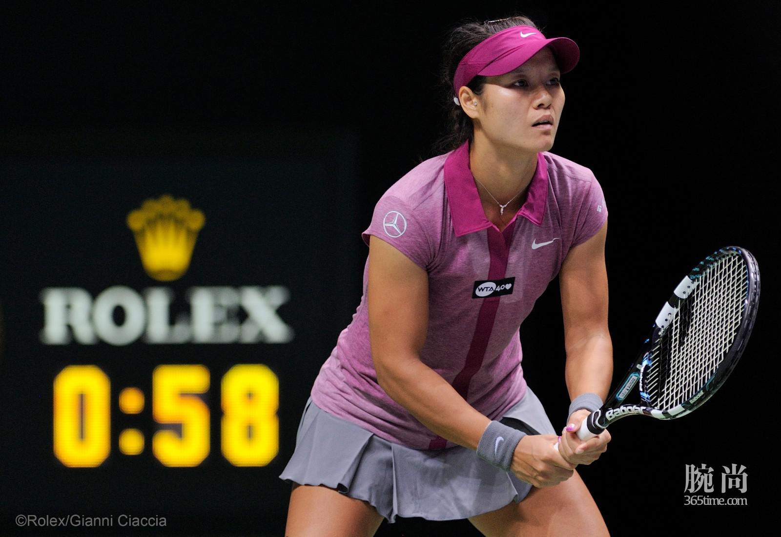 劳力士代言人李娜于2013年国际女子网球协会(WTA)锦标赛©Rolex Gianni Ciaccia.jpg