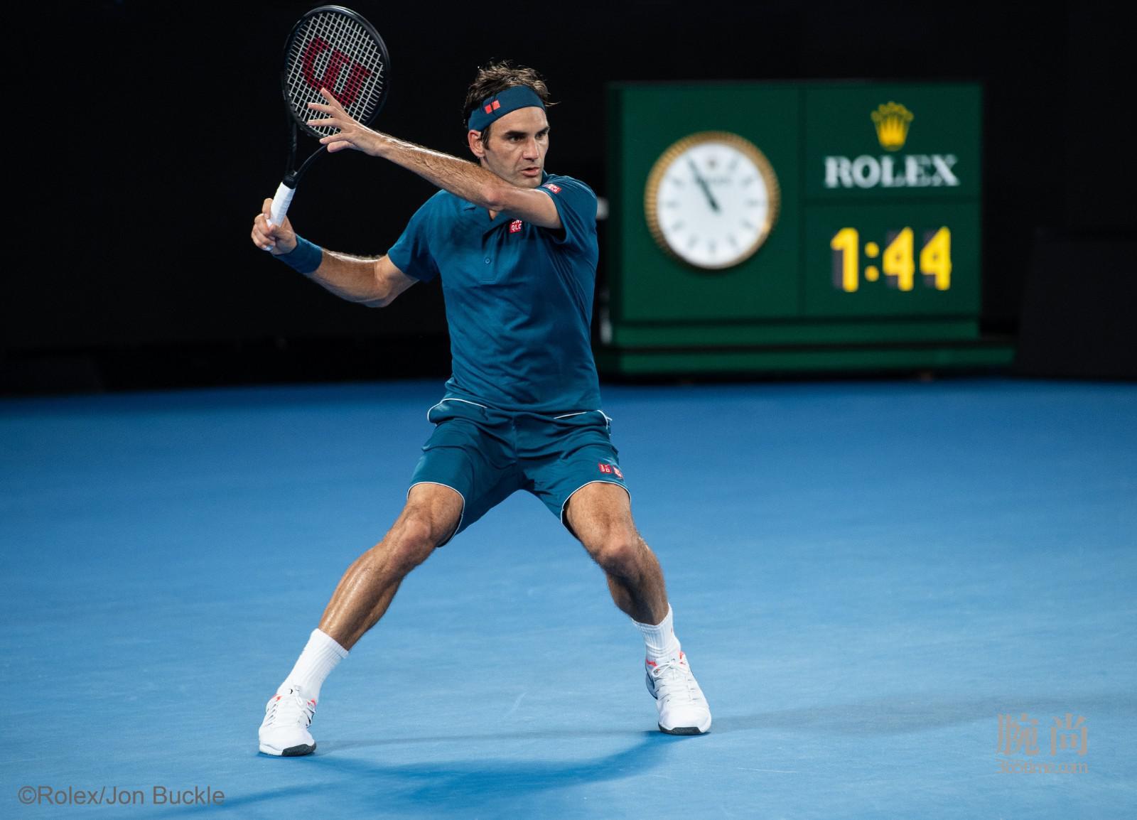 劳力士代言人罗杰•费德勒(ROGER FEDERER)于2019年澳大利亚网球公开赛©Rolex Jon Buckle(3).jpg