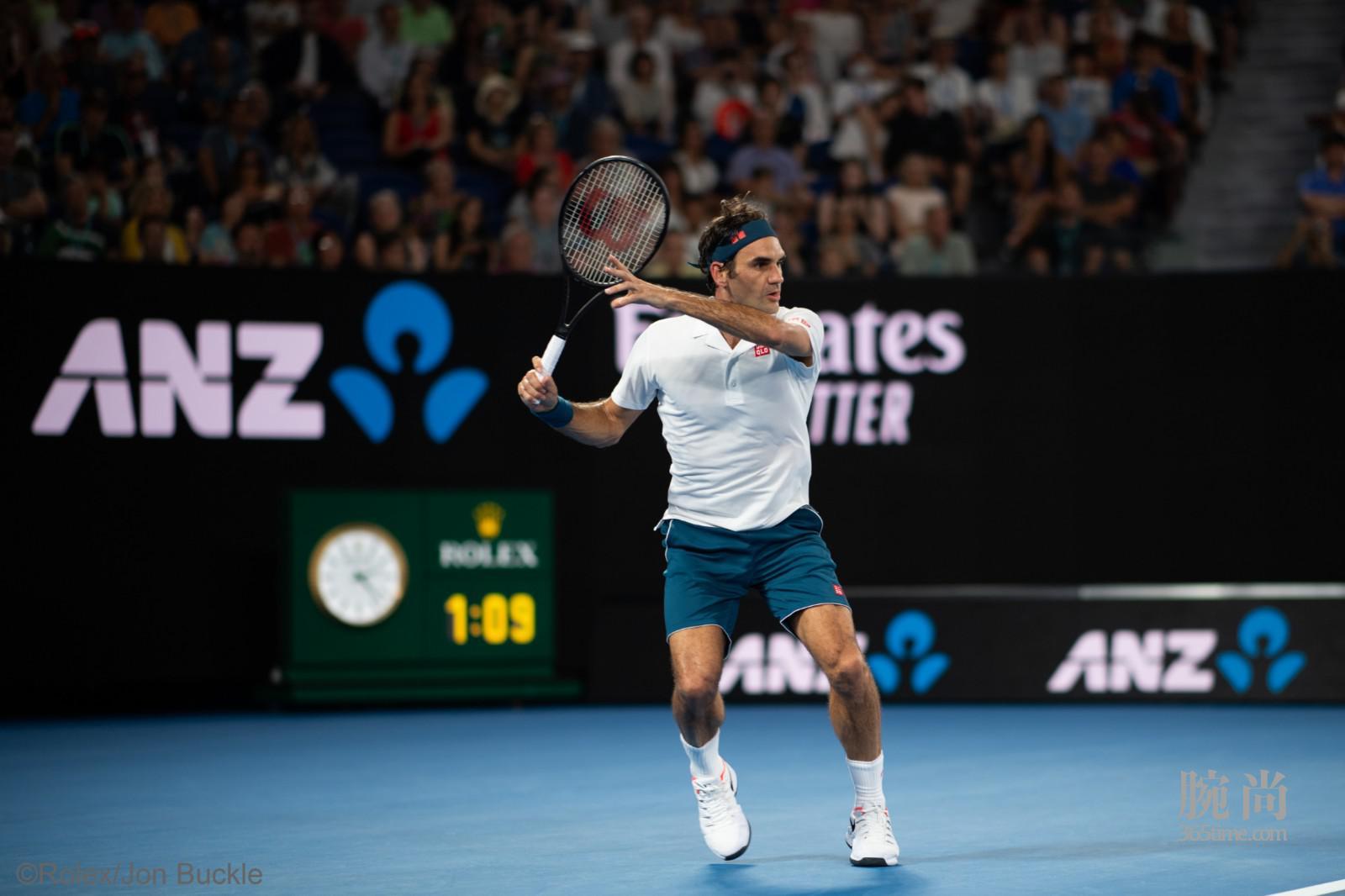 劳力士代言人罗杰•费德勒(ROGER FEDERER)于2019年澳大利亚网球公开赛©Rolex Jon Buckle(2).jpg