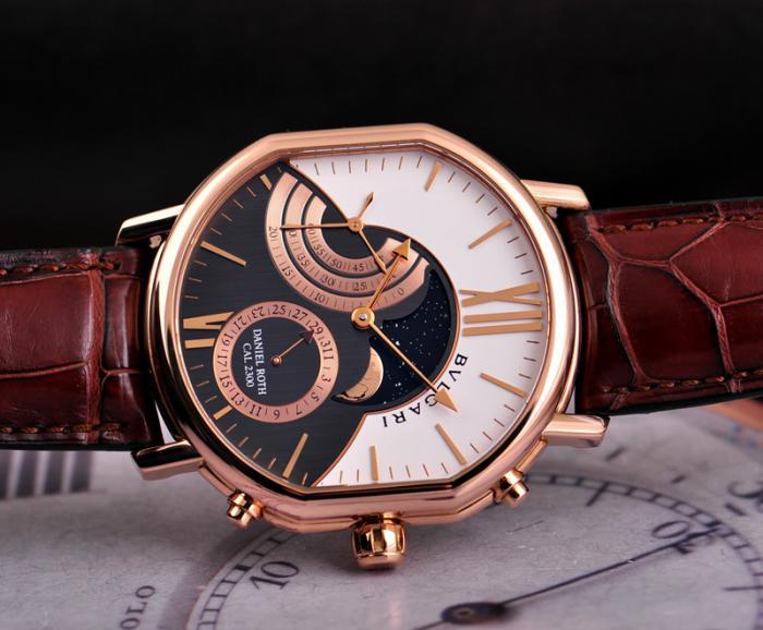 宝格丽DANIEL ROTH大月相腕表——再现古典的硬朗风格!