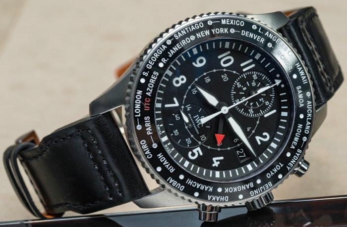 万国飞行员系列世界时区计时男表IW395001——实用优雅的世界时!