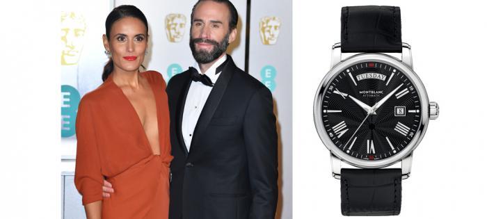著名演员约瑟夫•费因斯佩戴万宝龙腕表、袖扣 亮相2019英国电影学院奖颁奖典礼