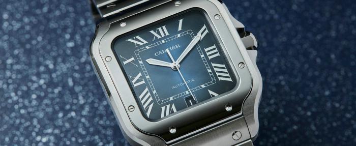 隐忍之美更动人——卡地亚Santos de Cartier蓝盘腕表