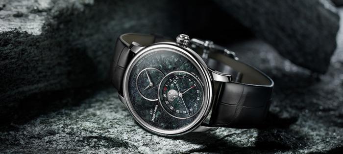 雅克德罗月相大秒针(GRANDE SECONDE MOON)腕表:瑞士特别版 融合精美矿石与浪漫月相的精品杰作